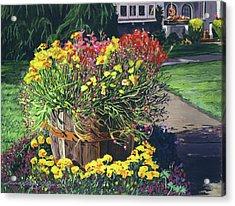 Winebarrel Garden Acrylic Print