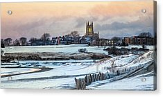 Acrylic Print featuring the photograph Winter Dusk by Robin-Lee Vieira