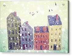 Winter In Nantucket Acrylic Print