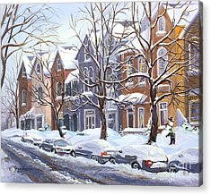 Winter In The City  Acrylic Print by Margit Sampogna