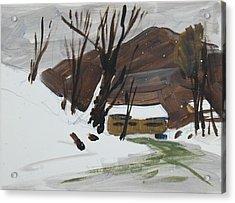 Winter Acrylic Print by Len Stomski