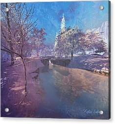 Winter Morning At South Farthing Acrylic Print