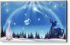 Winter Night Acrylic Print by Harald Dastis