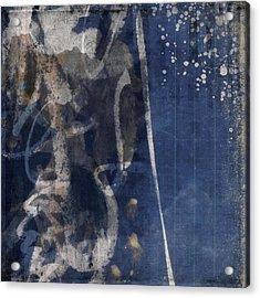 Winter Nights Series Six Of Six Acrylic Print by Carol Leigh
