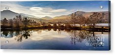 Winter Reflections Acrylic Print by Adrian Evans