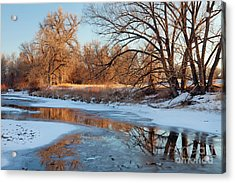 Winter River Acrylic Print by Marek Uliasz
