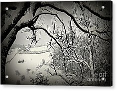 Acrylic Print featuring the photograph Winter Scene In Switzerland by Susanne Van Hulst