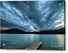 Acrylic Print featuring the photograph Winter Storm Clouds by Thomas R Fletcher