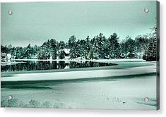 Winter Stream Acrylic Print by Rick Couper