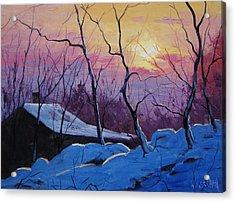 Winter Sunrise Acrylic Print by Graham Gercken