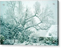 Acrylic Print featuring the photograph Winter Wonderland In Switzerland by Susanne Van Hulst