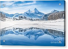 Winter Wonderland In The Alps Acrylic Print