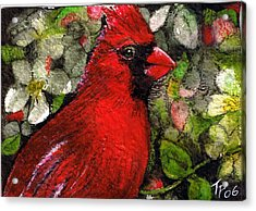 Winterbird Acrylic Print by Terri Kilpatrick
