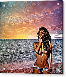 Wish You Were Here Acrylic Print by The DigArtisT