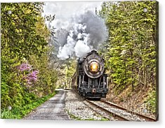 Wmsr Steam Engine 734  Acrylic Print by Jeannette Hunt