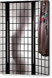 Woman Behind Shoji Screen Acrylic Print by Oleksiy Maksymenko