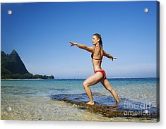 Woman Doing Yoga Acrylic Print by Kicka Witte - Printscapes