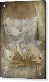 Woman With A Book Acrylic Print by Joana Kruse
