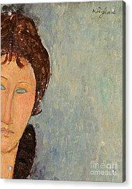 Woman With Blue Eyes Acrylic Print by Amedeo Modigliani
