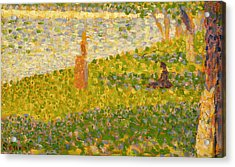Women On The River Bank Acrylic Print by Georges Pierre Seurat
