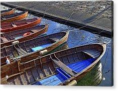 Wooden Boats Acrylic Print by Joana Kruse