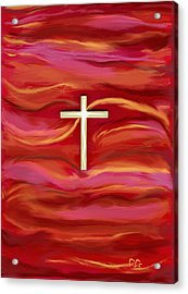 Wooden Cross Acrylic Print by BlondeRoots Productions