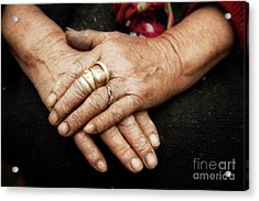 Working Hands Acrylic Print