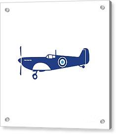 World War 2 Fighter Plane Spitfire Retro Acrylic Print by Aloysius Patrimonio