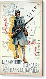 World War I: French Poster Acrylic Print by Granger