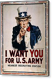 World War I: Uncle Sam Acrylic Print by Granger