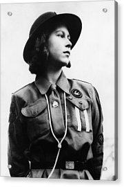 World War II. Future Queen Of England Acrylic Print by Everett