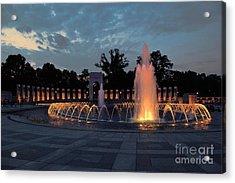 World War II Memorial Fountain Acrylic Print