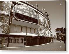 Wrigley Field - Chicago Cubs Acrylic Print by Frank Romeo