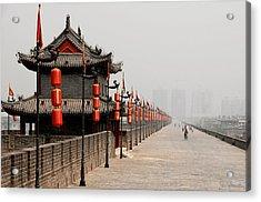 Xian Lanterns Acrylic Print by Joe Bonita