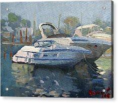 Yachts At The Harbor Acrylic Print