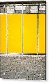 Yellow Panels Acrylic Print by Tom Gowanlock