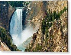 Yellowstone Waterfalls Acrylic Print by Sebastian Musial