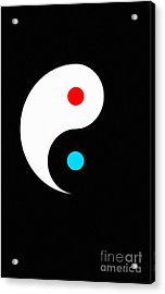 Yin And Yang Acrylic Print