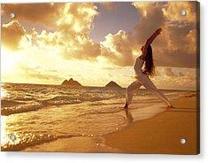 Yoga At Sunrise Acrylic Print by Dana Edmunds - Printscapes