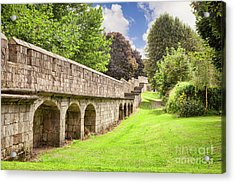 Acrylic Print featuring the photograph York City Walls, England by Colin and Linda McKie