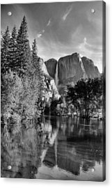 Acrylic Print featuring the photograph Yosemite Falls Spring Reflections by Stephen  Vecchiotti