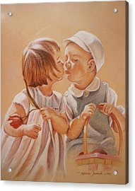 Acrylic Print featuring the painting Young Love  by Melinda Saminski
