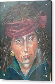 Young Navjo Acrylic Print by Judie Giglio