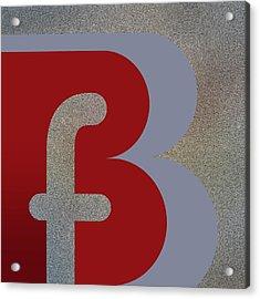 Your Name - B F Or F B Monogram Acrylic Print