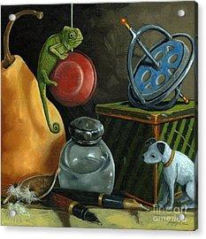 Yoyo Acrylic Print by Linda Apple