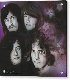 Led Zeppelin - ' Zeppelin ' Acrylic Print by Christian Chapman Art