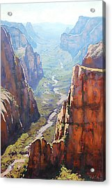 Zion Canyon Acrylic Print by Graham Gercken