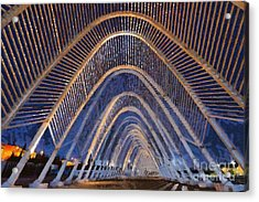 Archway In Olympic Stadium In Athens Acrylic Print by George Atsametakis