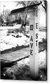 10 Ave And E St Belmar New Jersey Acrylic Print