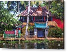 Backwaters Kerala - India Acrylic Print by Joana Kruse